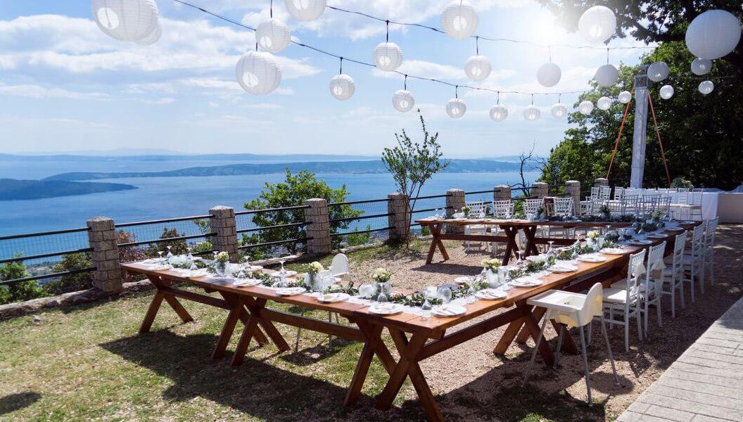 Croatia wedding venue private venue with amazing view for Wedding venue with a view